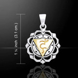 Throat Chakra Pendant (Confidence) - Sterling Silver & Gold