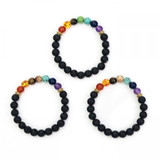 Chakra Crystal Bracelet (with Lava Beads)