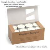 Pack of 24 Organic Tea Lights - (Plant Wax)