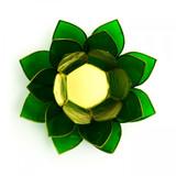 Green Lotus Flower Tea Light Holder (Heart Chakra)