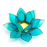 Blue Lotus Flower Tea Light Holder (Throat Chakra)