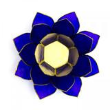 Indigo Lotus Flower Tea Light Holder (Third Eye Chakra)