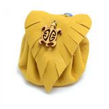 Turtle Tan Leather Medicine Bag by Sylvia Jackson