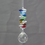 Lead Crystal Cascade - Rainbow