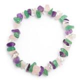 Four Stone Crystal Chip Bracelet