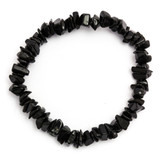 Black Tourmaline Crystal Chip Bracelet