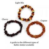 Cognac Baltic Amber Chip Bracelet