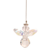 Clear (with AB Coating) Lead Crystal Hanging Angel