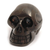Hand Carved Black Obsidian Crystal Skull (5 cm)