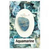 Aquamarine Wire Wrap Silver Pendant