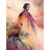 Falcon Woman Greeting Card (Birthday) by Marie Buchfink