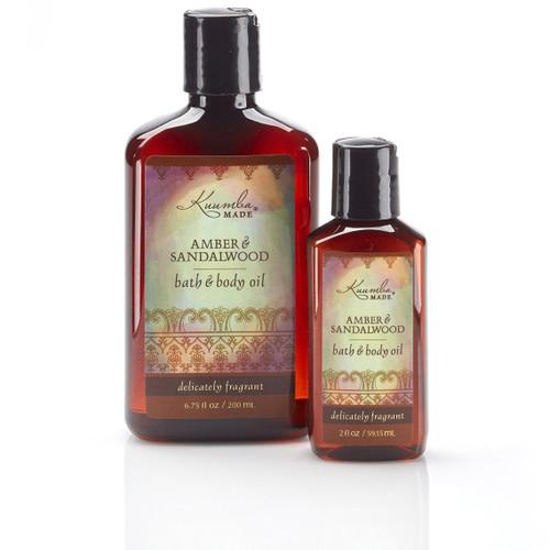 Amber & Sandalwood Bath & Body Oil