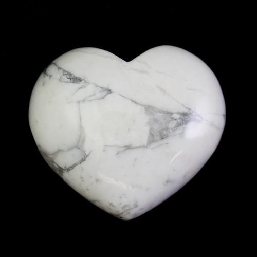 Howlite Crystal Heart