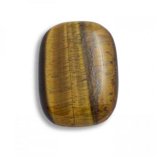 Golden Tiger's Eye Shaped Palm Stone