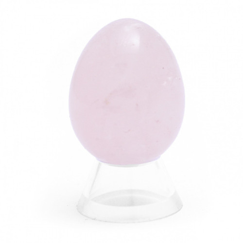 Rose Quartz Crystal Egg (45mm tall)