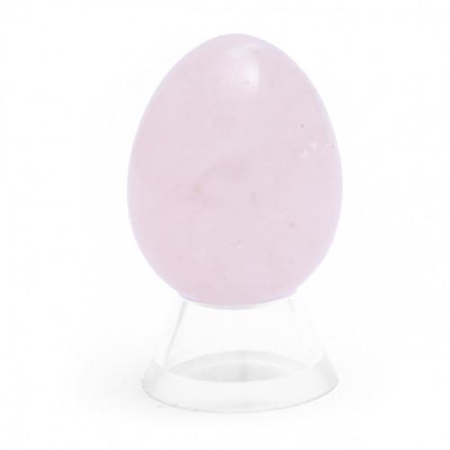 Rose Quartz Crystal Egg (45mm tall)