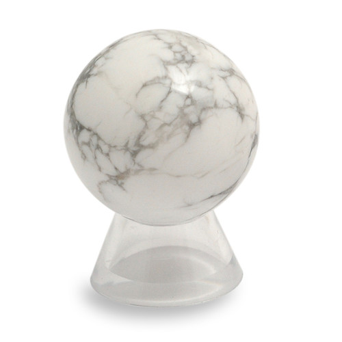 Howlite Quartz Crystal Sphere (40mm)