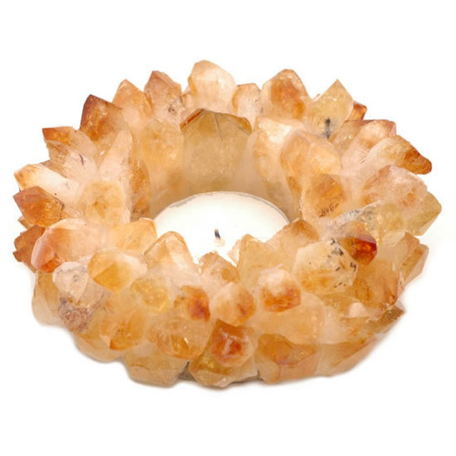 Citrine Point Tealight Candle Holder
