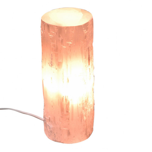 Selenite Column Lamp (25-30cm)