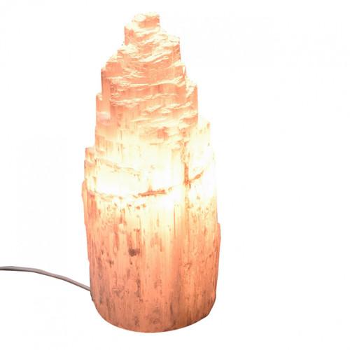 Selenite Mountain Lamp (20-25cm)