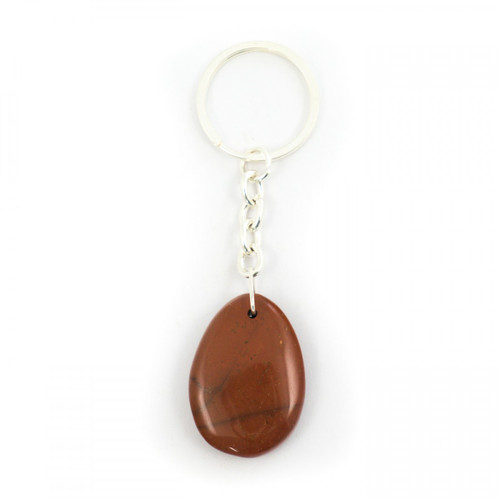 Red Jasper Teardrop Crystal Keyring