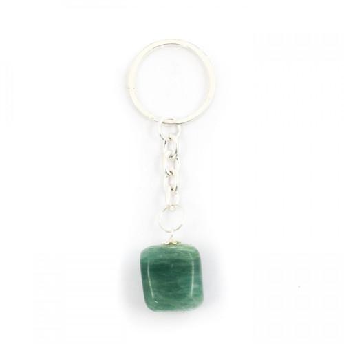 Green Aventurine Tumblestone Keyring