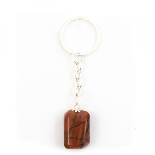 Red Jasper Tumblestone Keyring