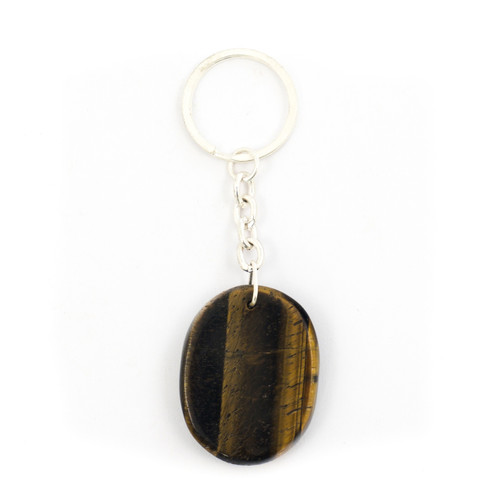 Golden Tigers Eye Crystal Keyring