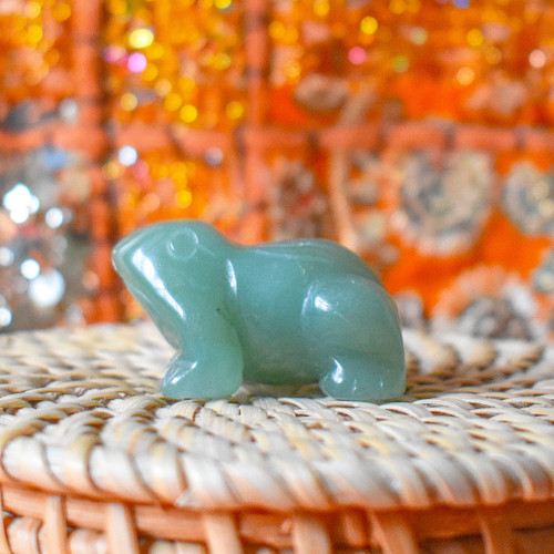 Green Aventurine Crystal Frog