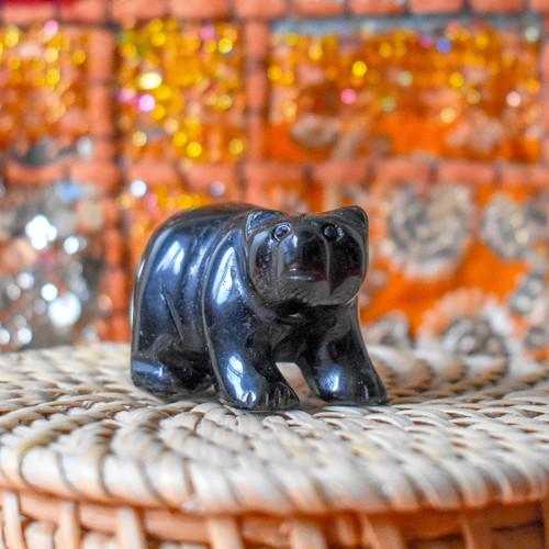 Black Obsidian Crystal Bear