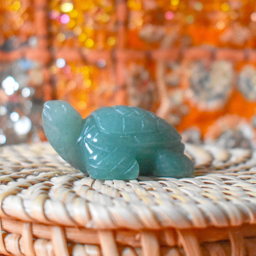 Green Aventurine Crystal Turtle