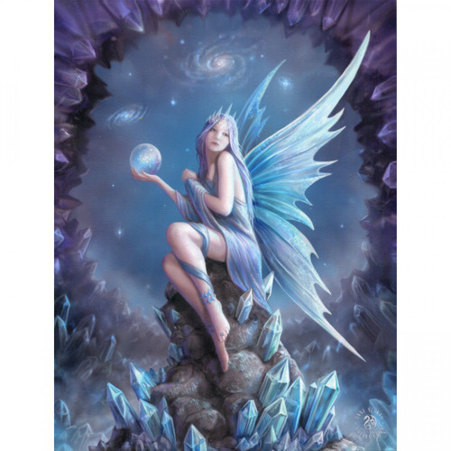 Stargazer Canvas Plaque (25 x 19cm) by Anne Stokes