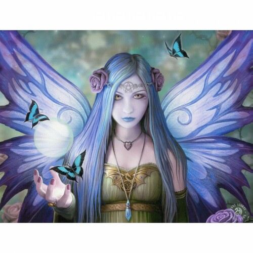 Mystic Aura Canvas Plaque (19 x 25cm) by Anne Stokes