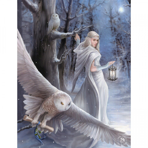 Midnight Messenger Canvas Plaque (25 x 19cm) by Anne Stokes