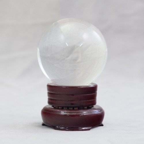 Crystal Scrying Ball with Base (6cm)