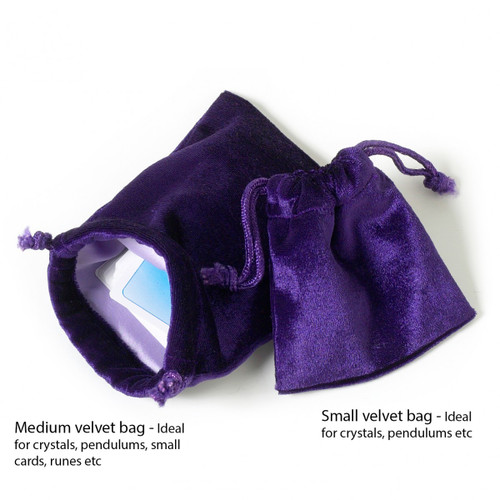 Small Purple Velvet Bag with Satin Lining