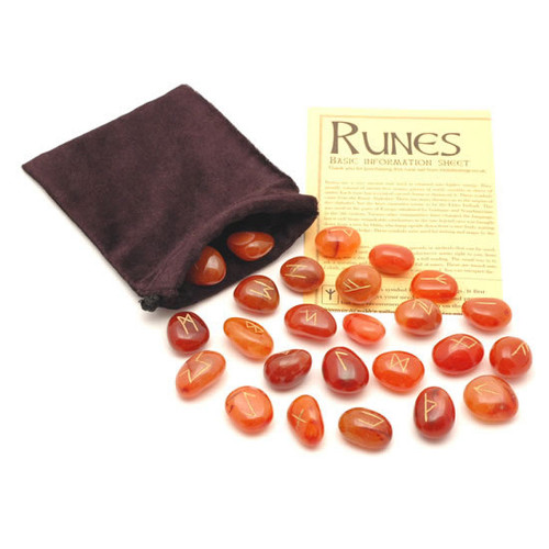 Carnelian Crystal Rune Stones