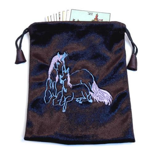 Unicorn Black Velvet Tarot / Oracle Card Bag