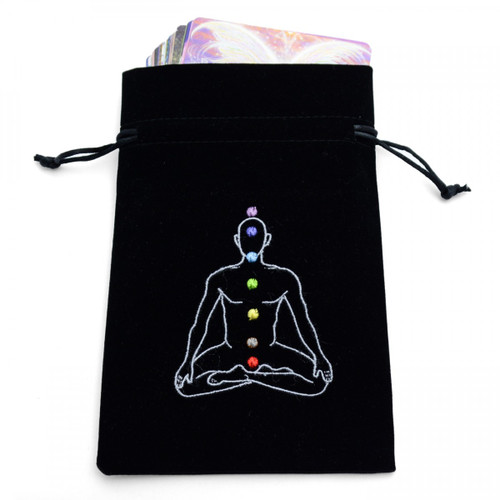 Black Chakra Tarot / Oracle Card Bag