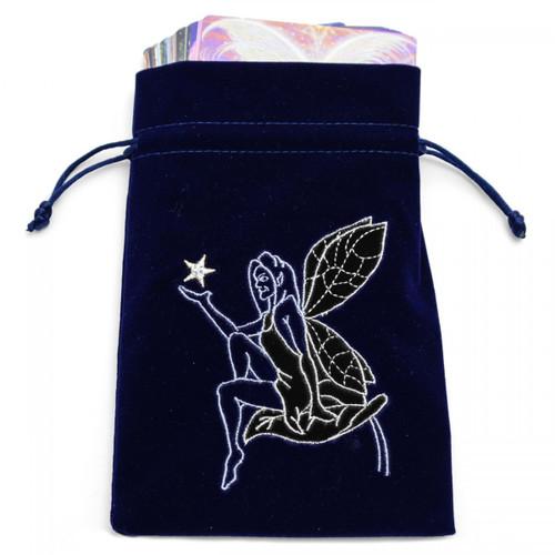 Navy Fairy Tarot/Angel Card Bag