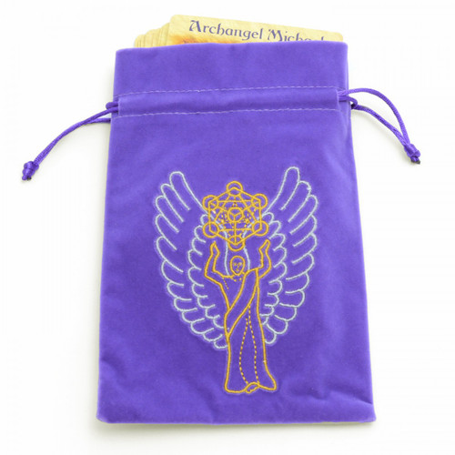 Archangel Metatron Embroidered Tarot / Oracle Card Bag