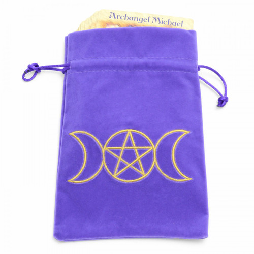 Purple Moon Goddess Tarot/Angel Card Bag