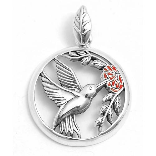 Hummingbird Pendant (Sterling Silver)