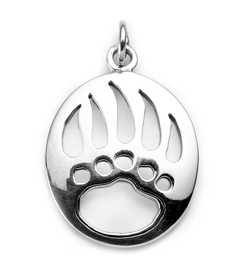 Bear Paw Charm / Pendant (Sterling Silver)