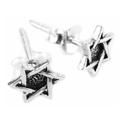 Star of David Stud Earrings (Sterling Silver)