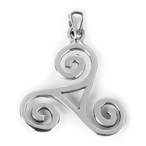 Triskele Pendant (Sterling Silver)