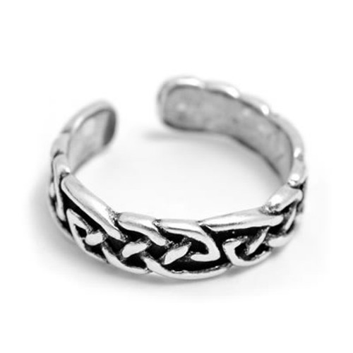 Celtic Design Toe Ring (Sterling Silver)