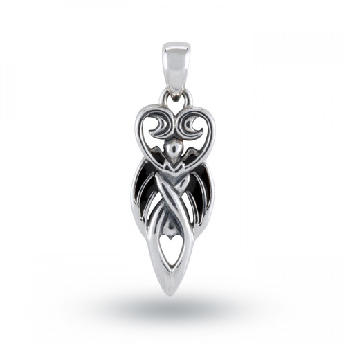 Winged Goddess Pendant (Sterling Silver)