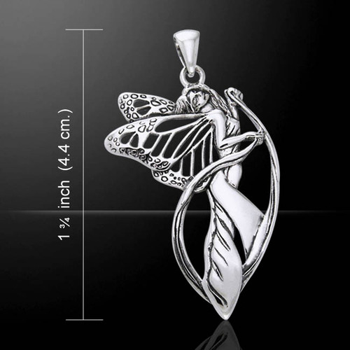 Butterfly Fairy Pendant (Sterling Silver) by Courtney Davis