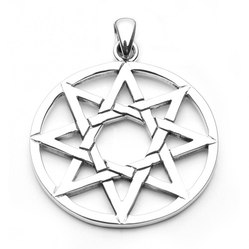 Large Eight Pointed Star Pendant (Sterling Silver)